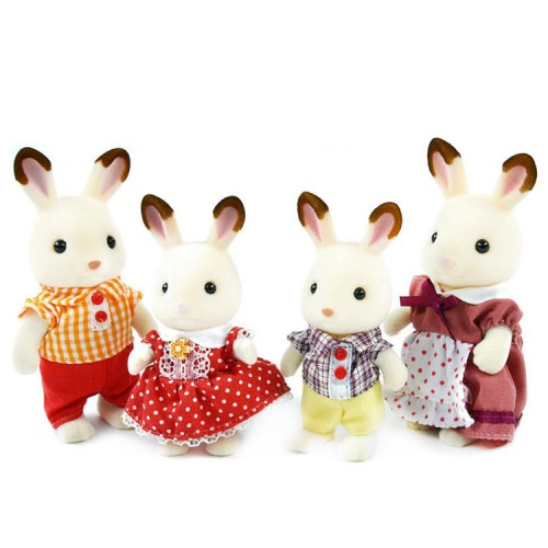 Calico Critters Hopscotch Rabbit Family - Educational Toys ...