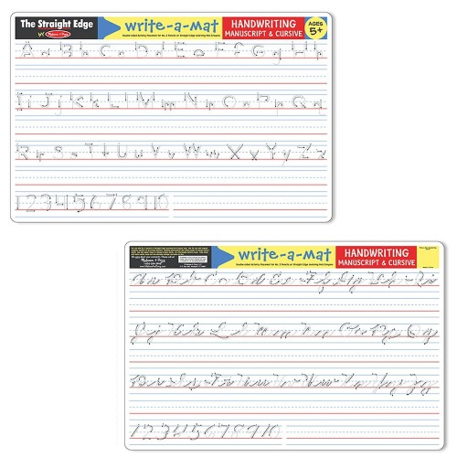 Handwriting Write On Learning Placemat Educational Toys