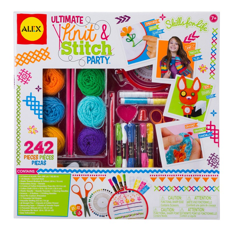 Ultimate Knit Stitch Party Girls Sewing Craft Kit