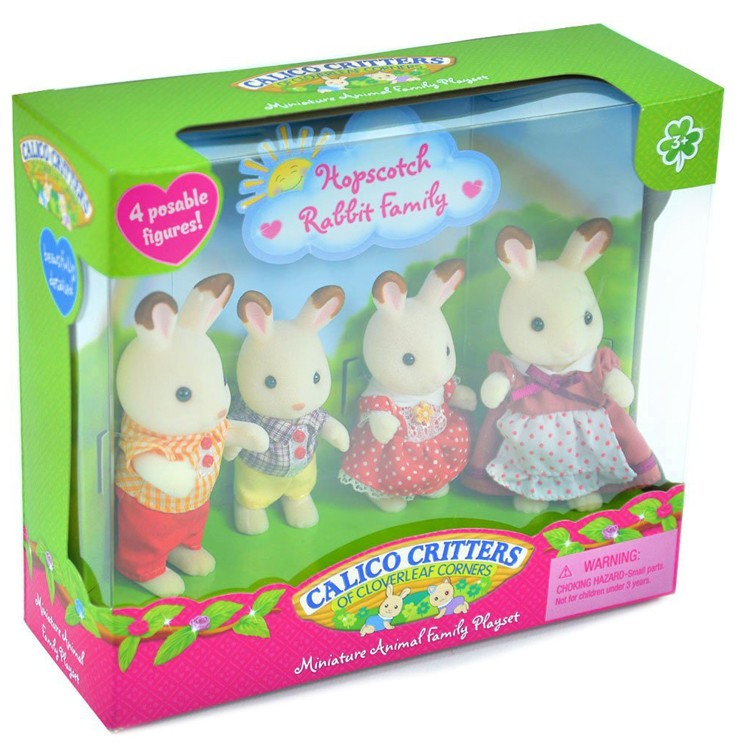 Calico Critters Hopscotch Rabbit Family Educational Toys