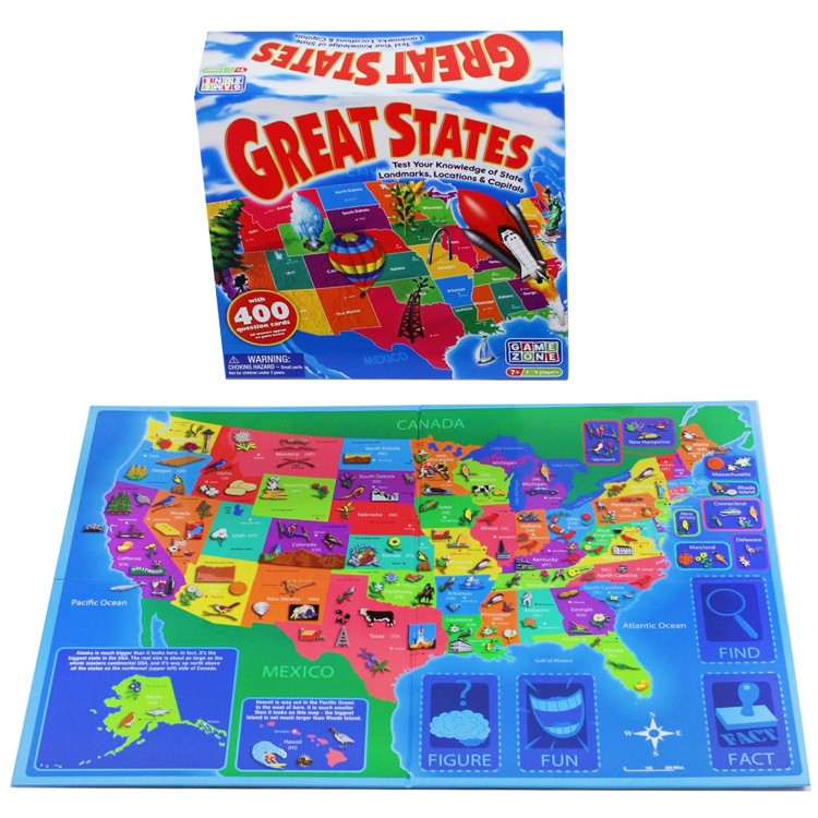 Great States US Map Board Game - Educational Toys Planet