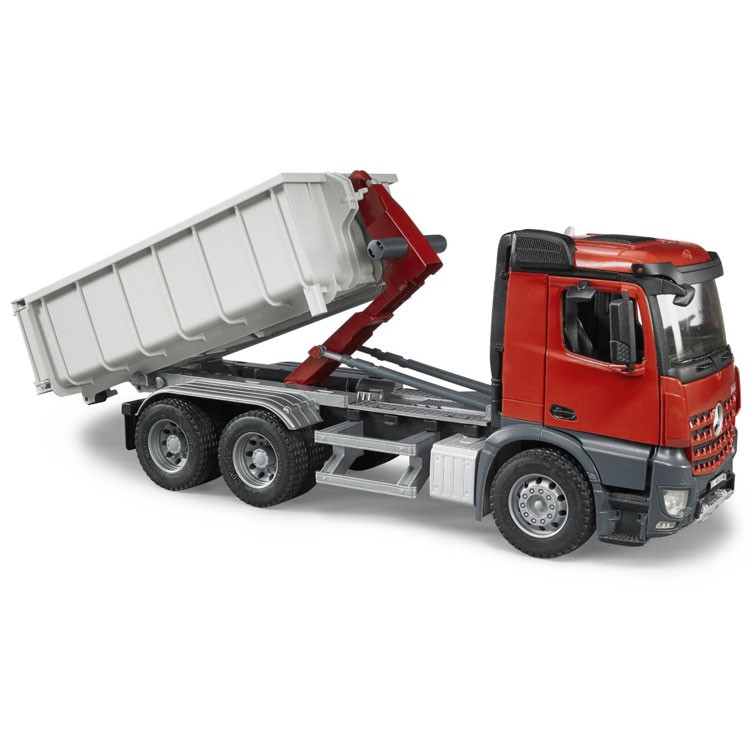a8eeea4dcd89 Bruder Toy Truck MB Arocs Lorry with Roll off Transport Container ...