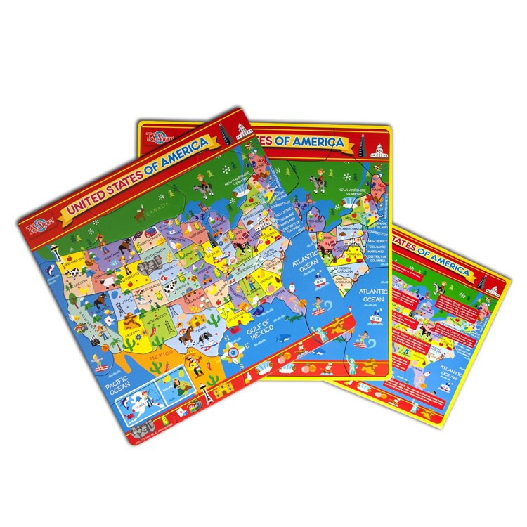 USA Map Magnetic Puzzle - Educational Toys Planet