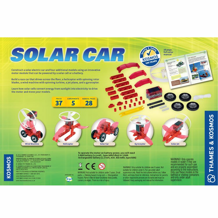 Solar Car Building Science Kit - Educational Toys Planet