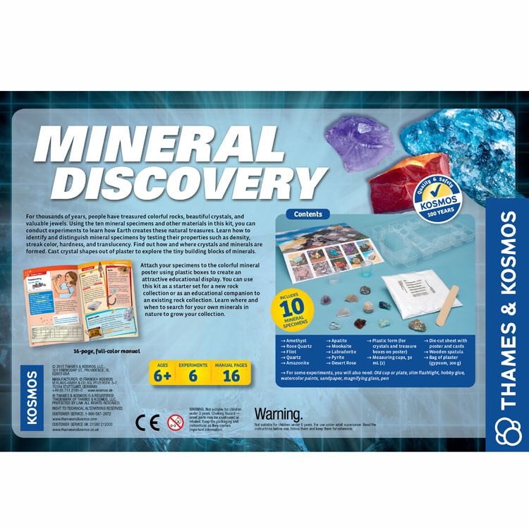Mineral Discovery Rock Science Kit