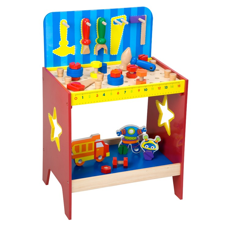 Children Wooden Work Bench Educational Toys Planet