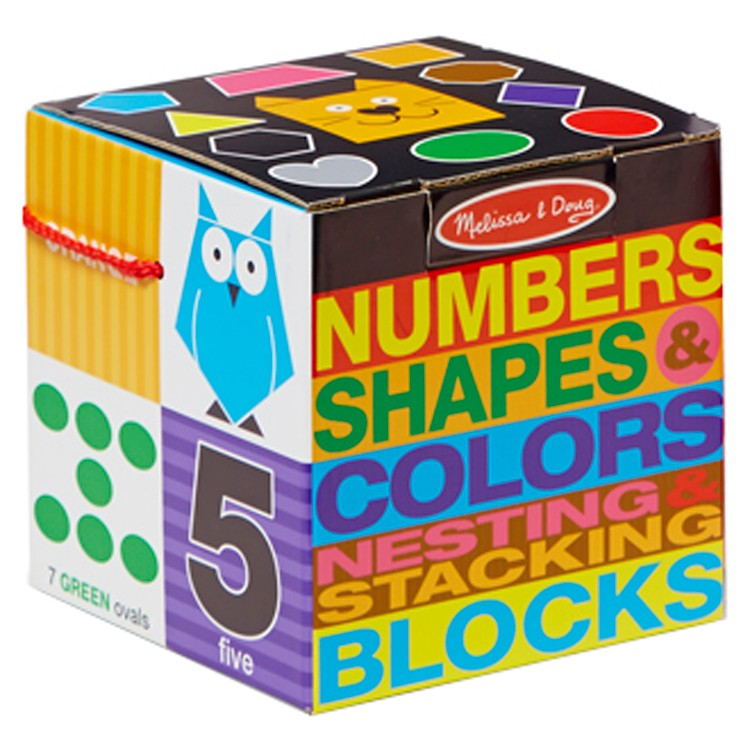 Numbers Shapes Colors Nesting Stacking Blocks Set