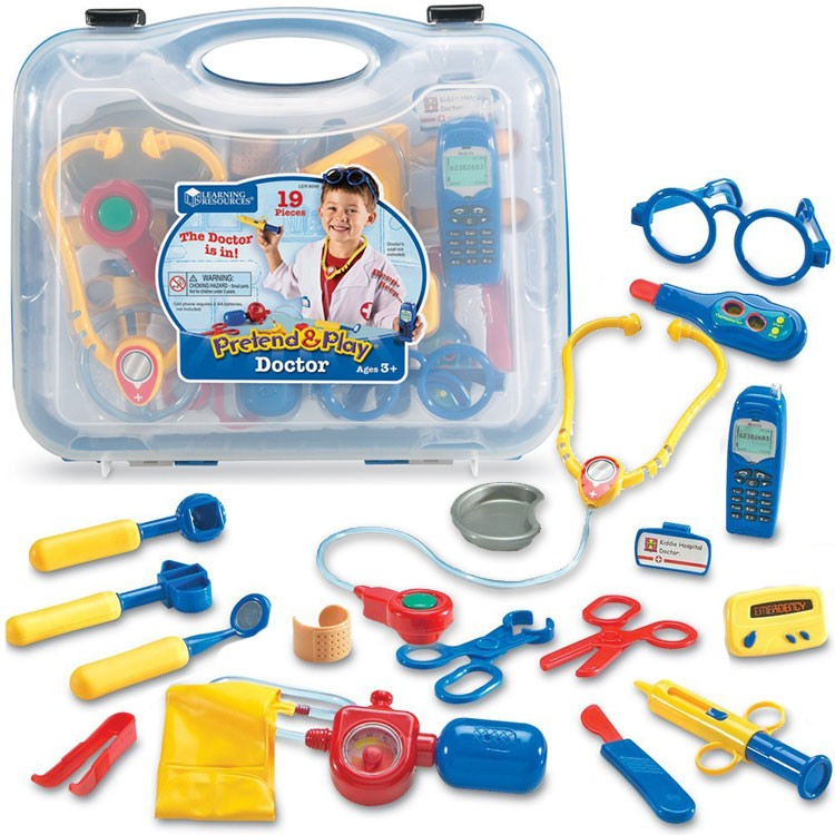 Pretend Play Doctor Set 19 Pc Blue Case Educational Toys Planet
