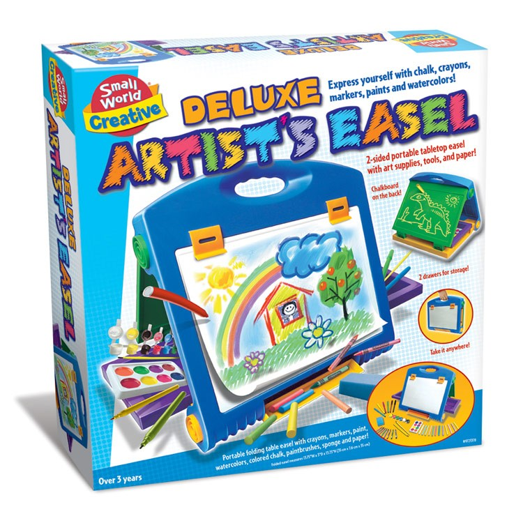 Deluxe Kids Artist Easel With Art Supplies Set Educational Toys Planet