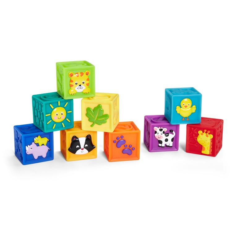 Squeak N Stack 9 Pc Soft Baby Blocks Set Educational Toys Planet