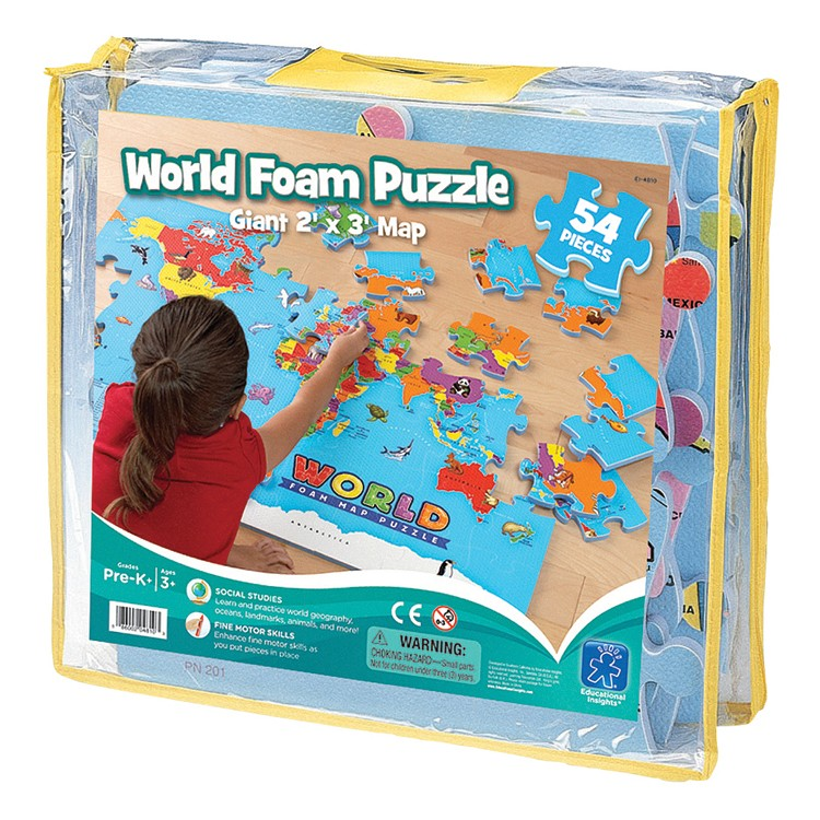 Give Kids The World Map.World Map Foam Puzzle Educational Toys Planet