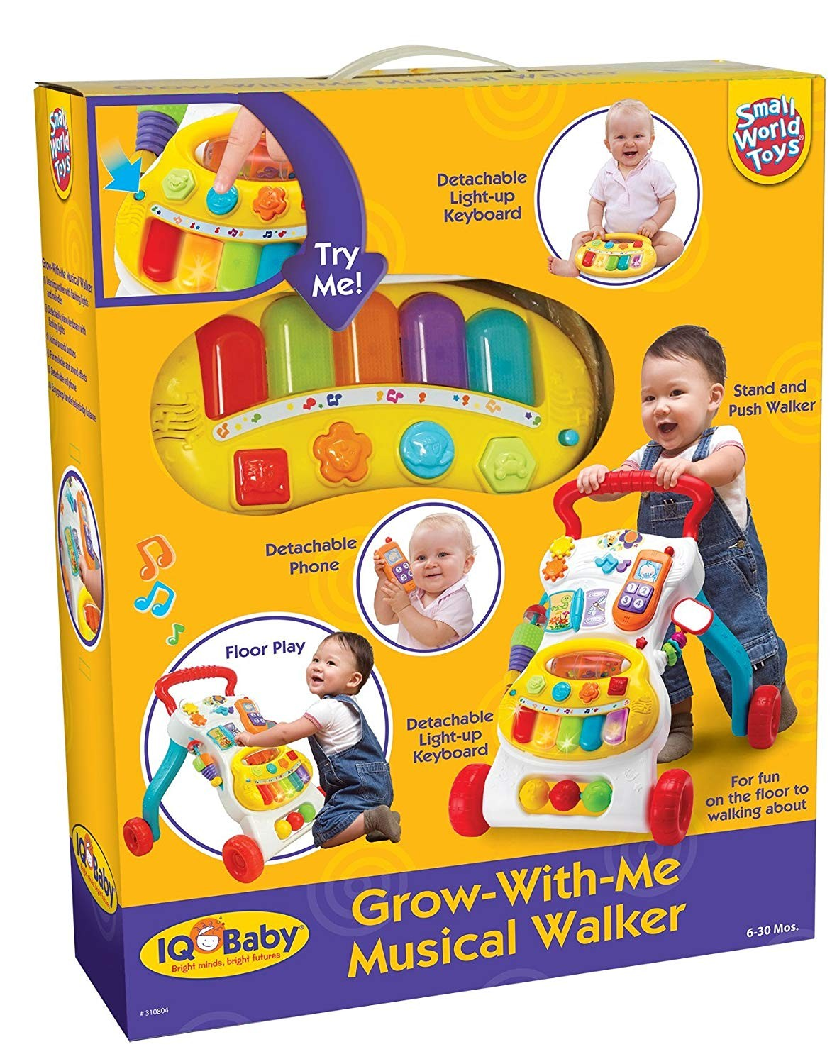 Grow with Me Musical Walker Toddler Push Toy - Educational ...