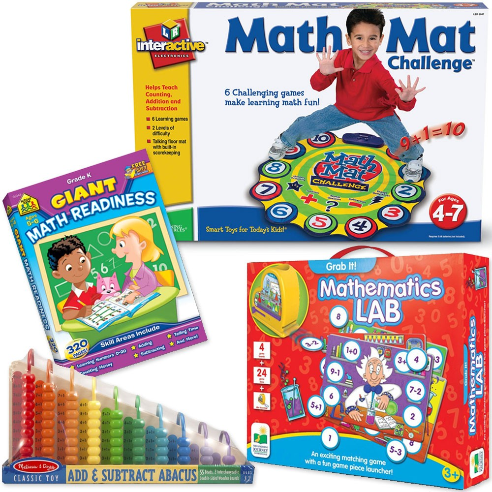 Math Skills, Addition, Subtraction Learning Toys Set for 3 ...