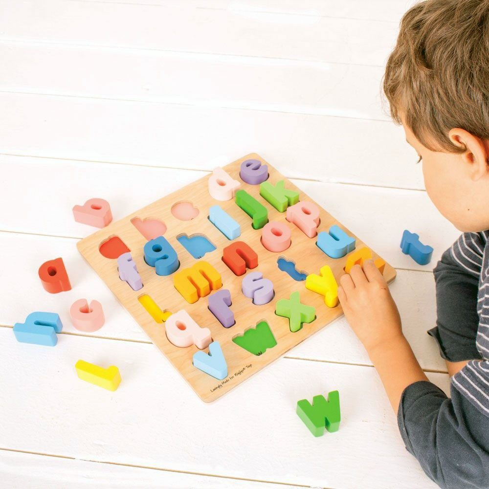 Chunky Alphabet Lowercase Letters Wooden Puzzle ...