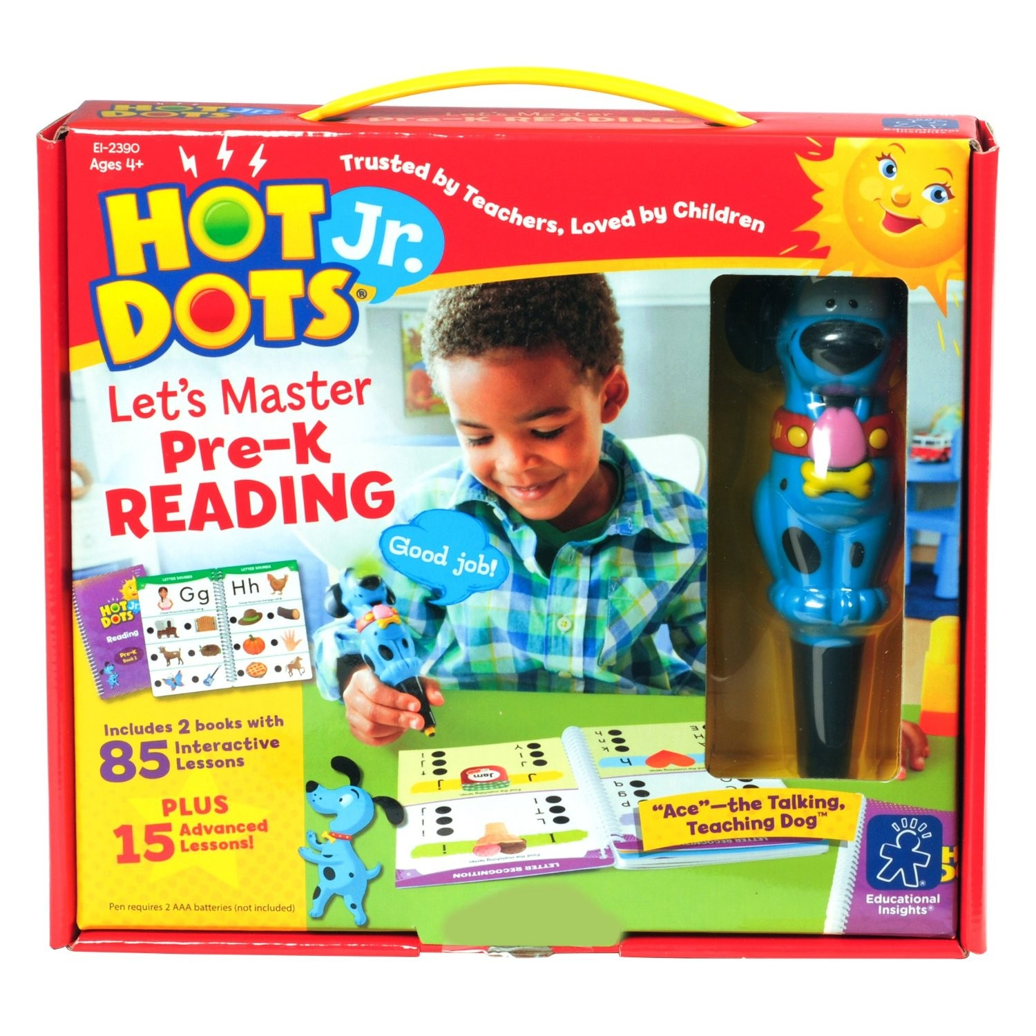 Education & Crafts Educational Insights 2391 Hot Dots Junior Lets Master Kindergarten Reading Office Products