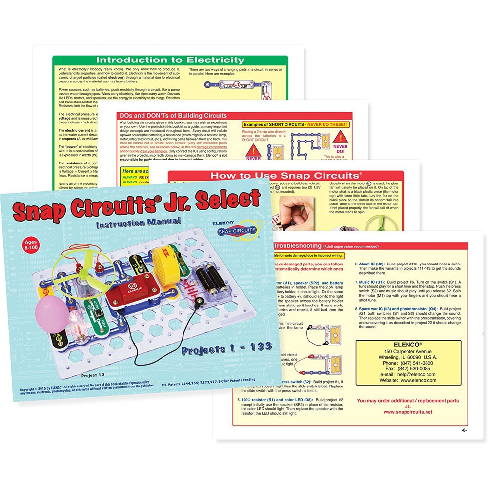 Snap Circuits Jr Select 133 Electronic Projects Kit Educational Another Circuit You Can Build That Includes The Motor