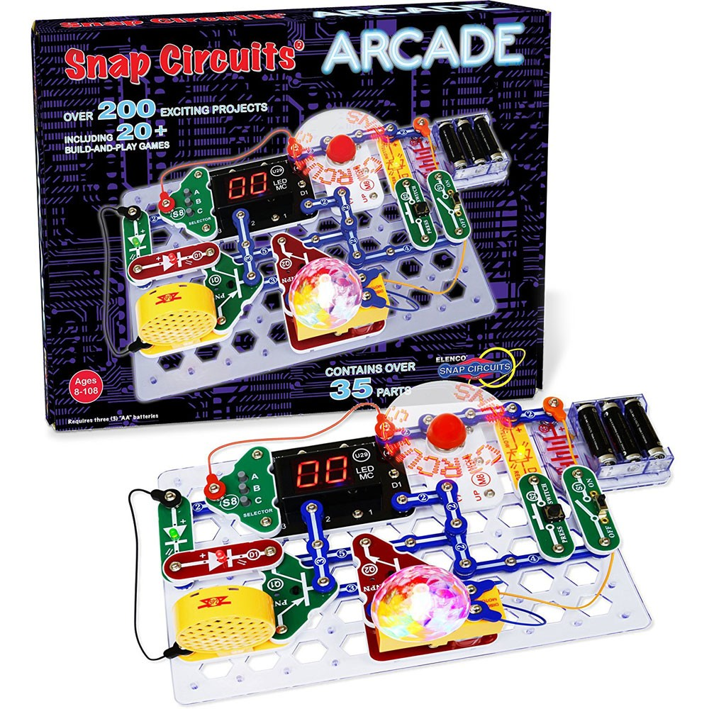 Snap Circuits Arcade Electronic Projects Kit Educational Toys Planet Electrical And Electronics