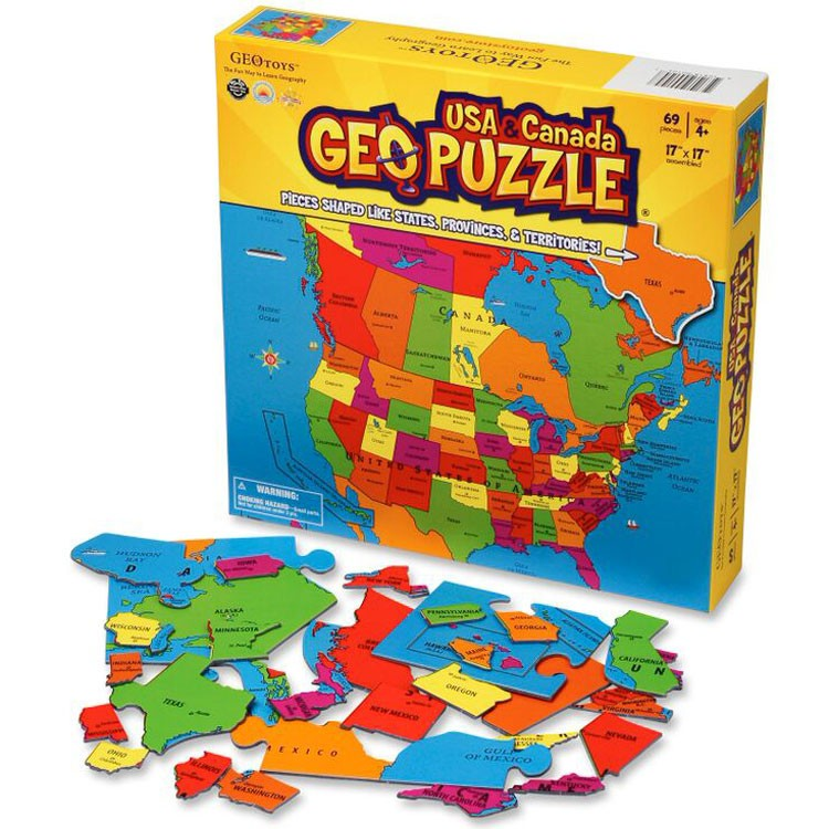 Map Of Canada Puzzle.Geo Puzzle Usa Canada 69 Pc Map Puzzle