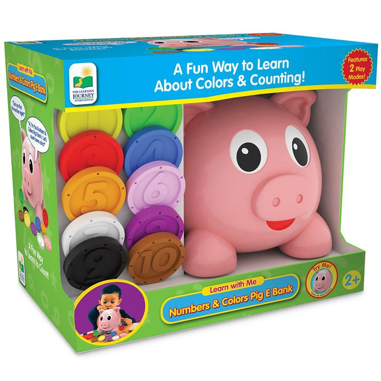 Numbers & Colors Pig E Bank Electronic Learning Toy ...