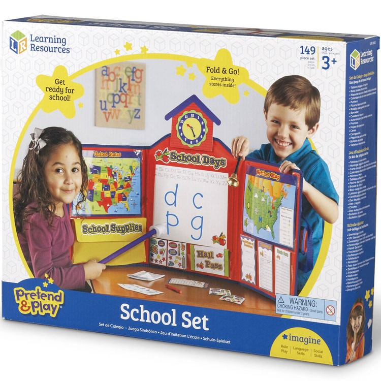 Child Pretend and Play School Set Learning Resources Kids