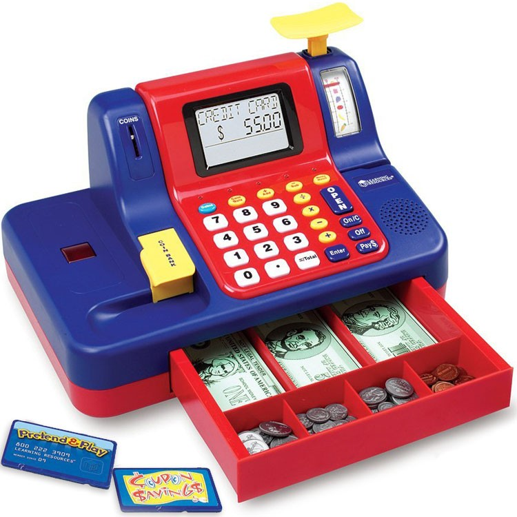 7f4bb8120bf0 Toy Cash Register Teaching Toy - Educational Toys Planet