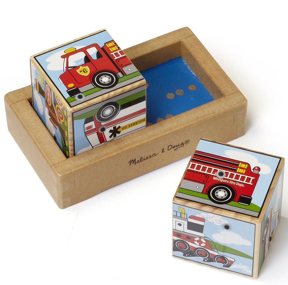 Vehicles Sound Block Wooden Toy Educational Toys Planet