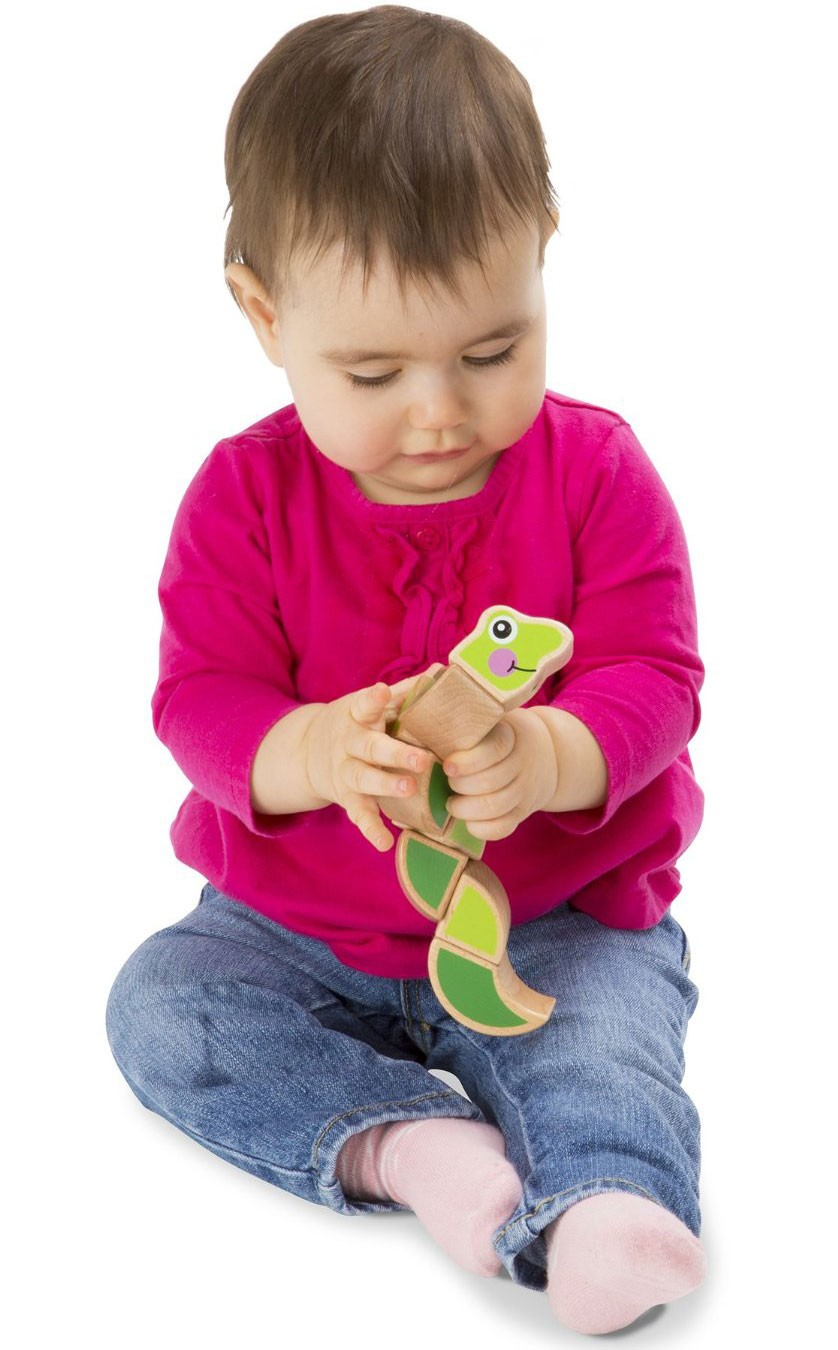 Wiggling Worm Baby Grasping Toy - Educational Toys Planet