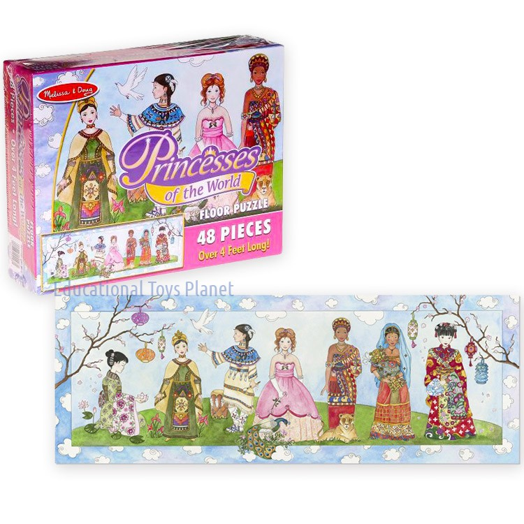 Princesses Of The World 48 Pc Giant Floor Puzzle