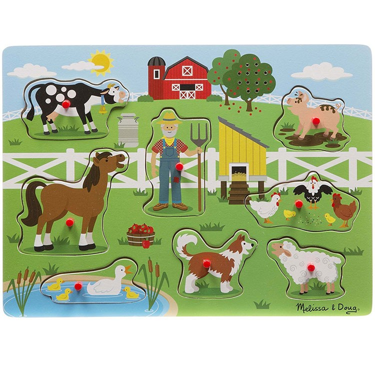 Old Macdonald S Farm Peg Sound Puzzle