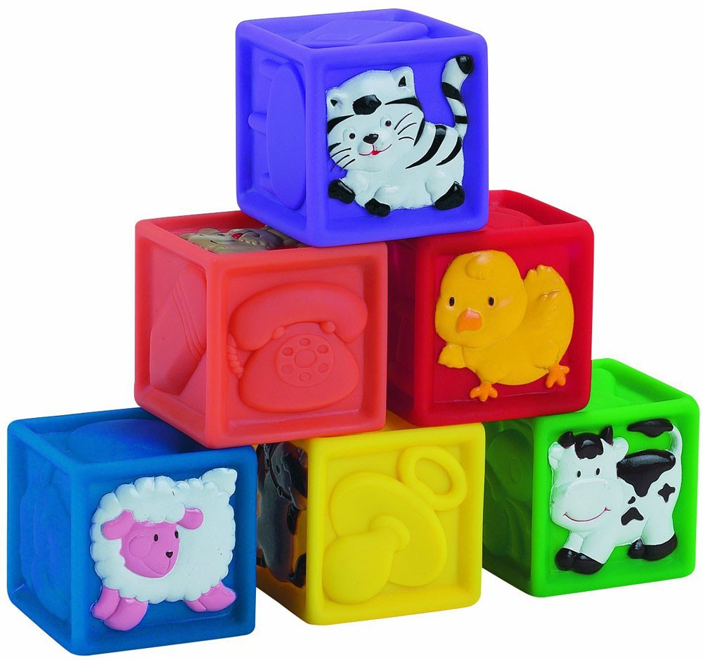 Squeeze A Lot 6 Baby Blocks Set Educational Toys Planet