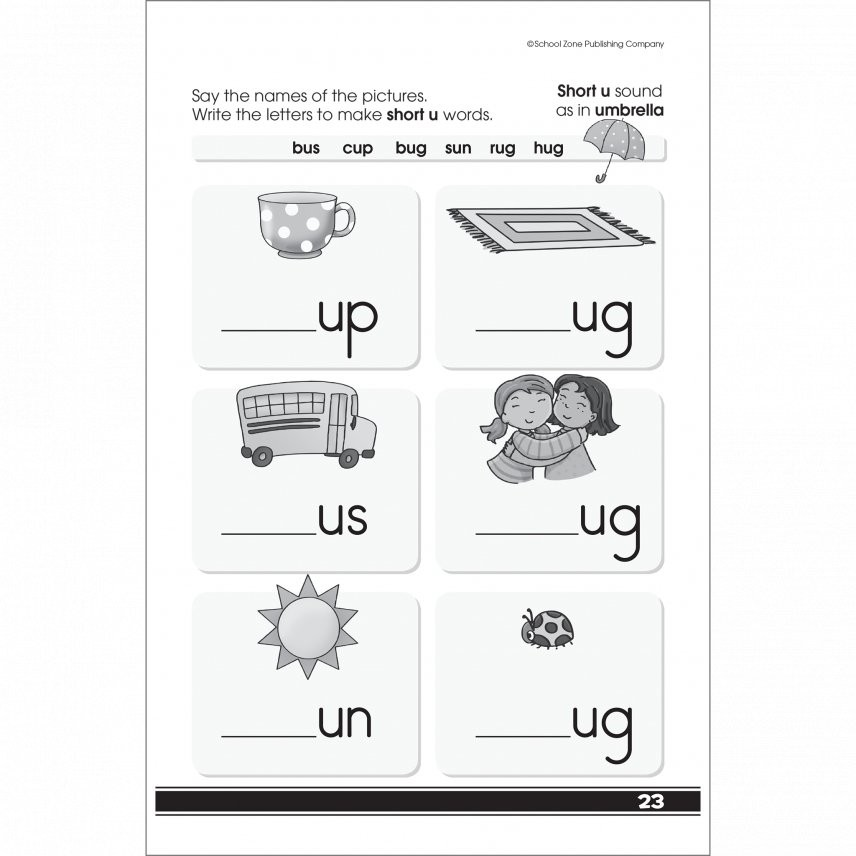 Get Ready to Read 48 Pages Activity Workbook for Grades K-1