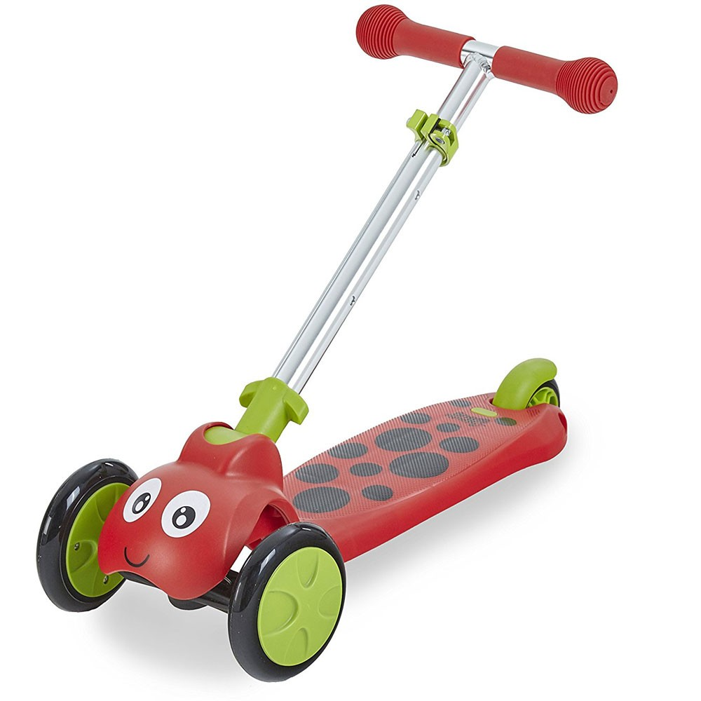 Scootie Bug 3 Wheel Folding Scooter Red Educational Toys Planet