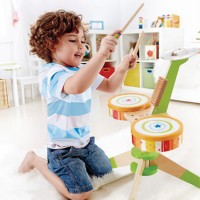 Kids Wooden Drum Set - Rock & Rhythm Band