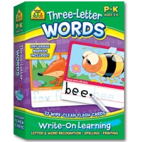Three Letter Words Interactive Flash Cards Set