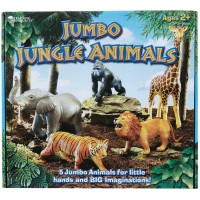 Jumbo Jungle Animals 5 pc Safari Animals Playset