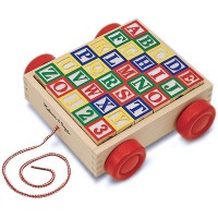 Classic ABC Block Cart Wooden Toy