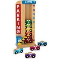 Stack & Count Parking Garage Vehicles Set