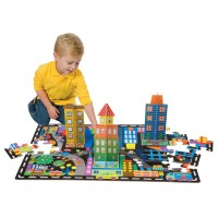 3D Cityscape Puzzle and Play Set