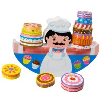 Balancing Baker Stacking Cakes Game