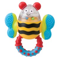 Click Clack Bee Rattle Baby Toy
