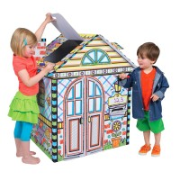 Color a House Giant Cardboard Craft & Play House