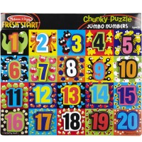 Jumbo Numbers Chunky Wooden Puzzle