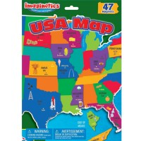 Imaginetics USA Map Magnetic Set