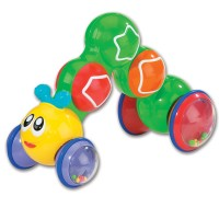 Press n Go Inchworm Baby Toy