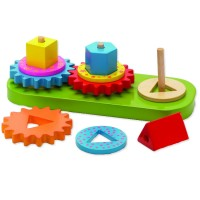 Gears Geo Blocks Sorting Board