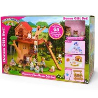 Calico Critters Adventure Tree House Deluxe Gift Set