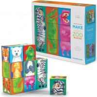 Make a Zoo Puzzle Blocks Mix n Match Set