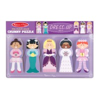 Girls Dress Up Mix Match Stack Chunky Wooden Puzzle