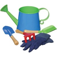 Kids Gardening Tools and Watering Can Set