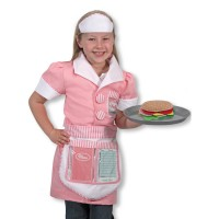 Waitress Girls Costume Role Play Set